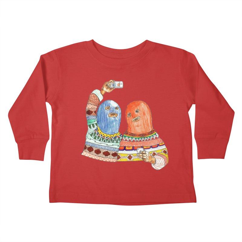 Selfies Kids Toddler Longsleeve T-Shirt by DEADBEAT HERO Artist Shop