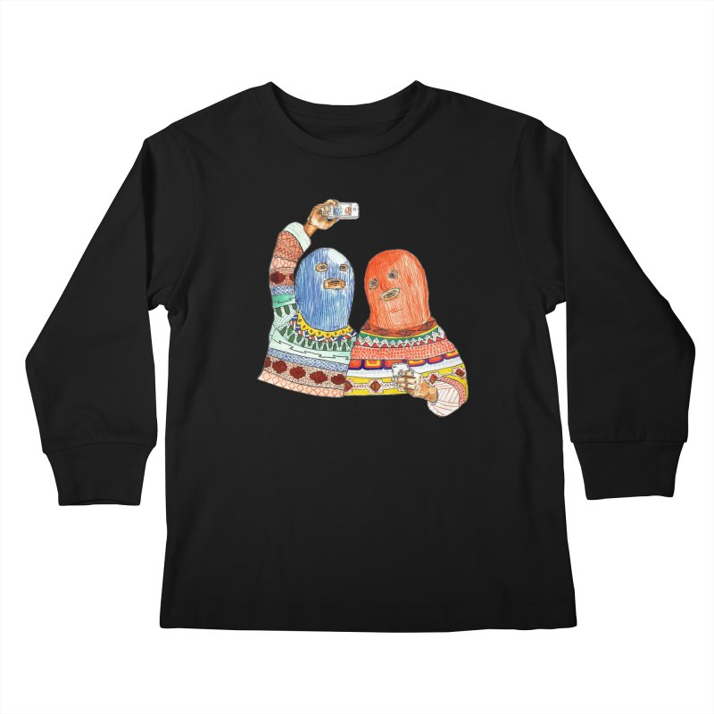 Selfies Kids Longsleeve T-Shirt by DEADBEAT HERO Artist Shop