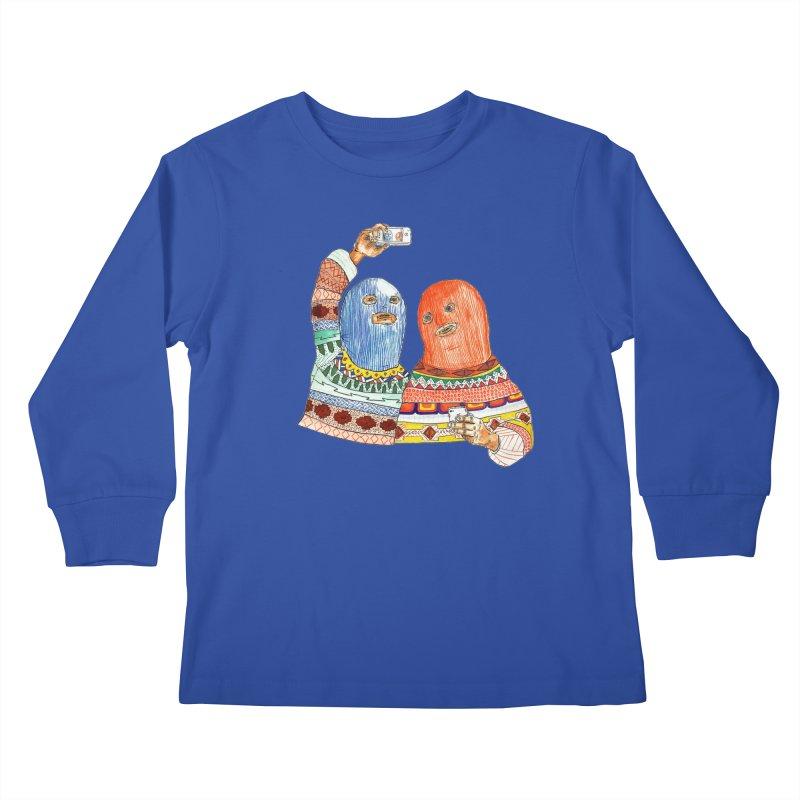 Selfies Kids Longsleeve T-Shirt by DEADBEAT HERO Artist Shop