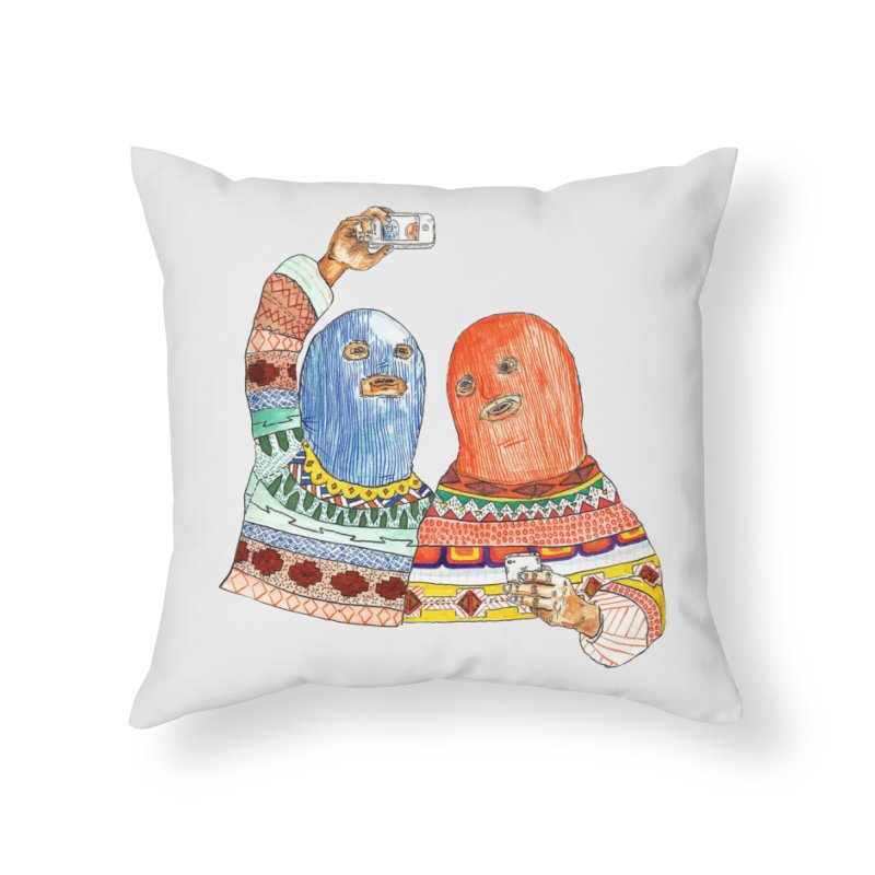 Selfies Home Throw Pillow by DEADBEAT HERO Artist Shop