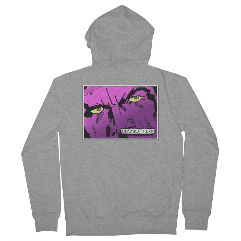 Deadbeat Hero. Women's French Terry Zip-Up Hoody by DEADBEAT HERO Artist Shop