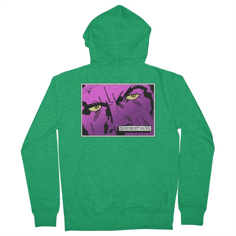 Deadbeat Hero. Men's French Terry Zip-Up Hoody by DEADBEAT HERO Artist Shop