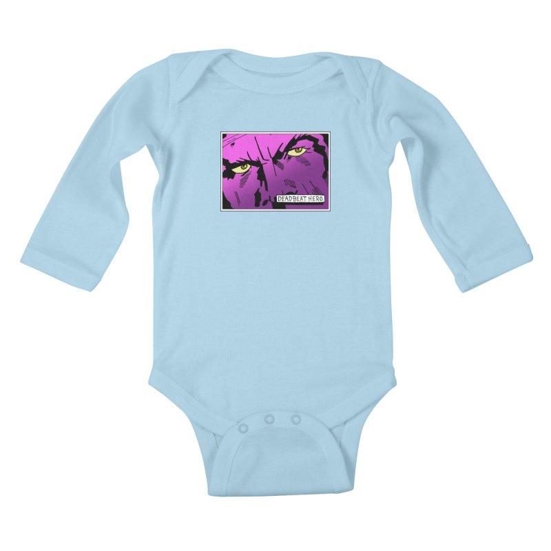 Deadbeat Hero. Kids Baby Longsleeve Bodysuit by DEADBEAT HERO Artist Shop