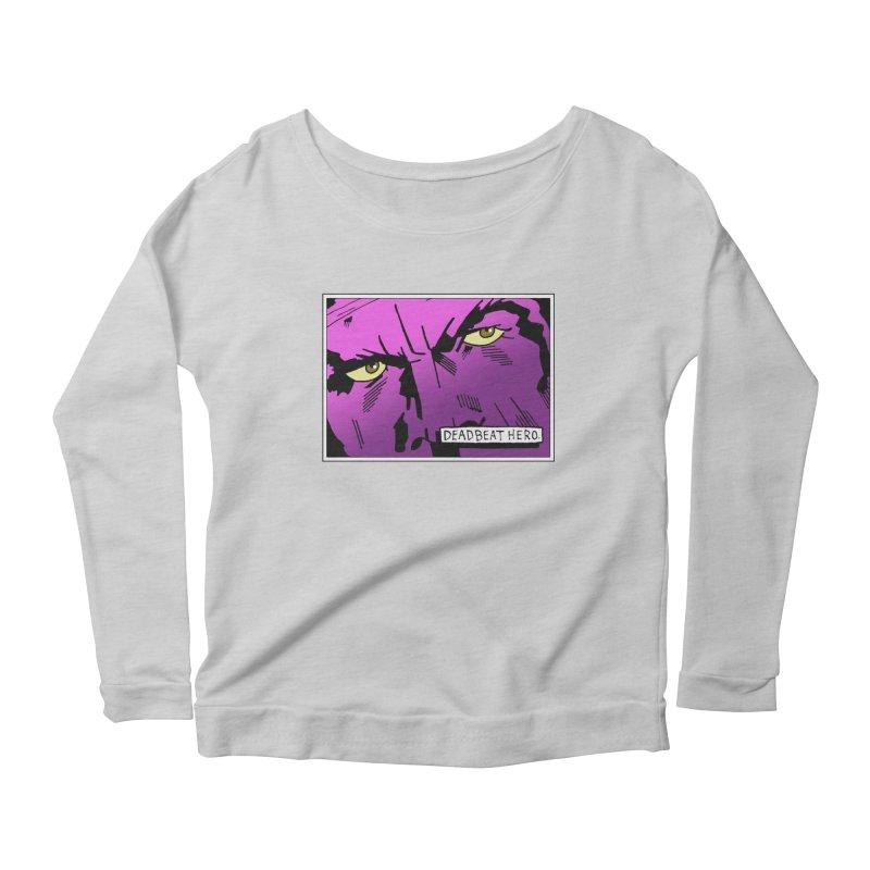 Deadbeat Hero. Women's Scoop Neck Longsleeve T-Shirt by DEADBEAT HERO Artist Shop