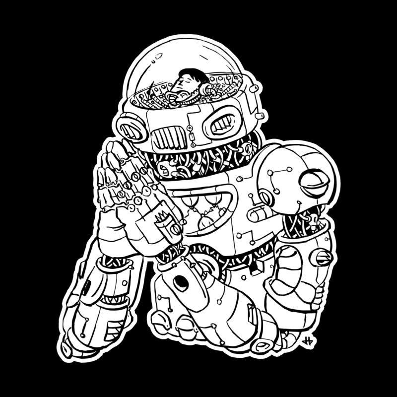 Spaceman Prey Men's T-Shirt by DEADBEAT HERO Artist Shop