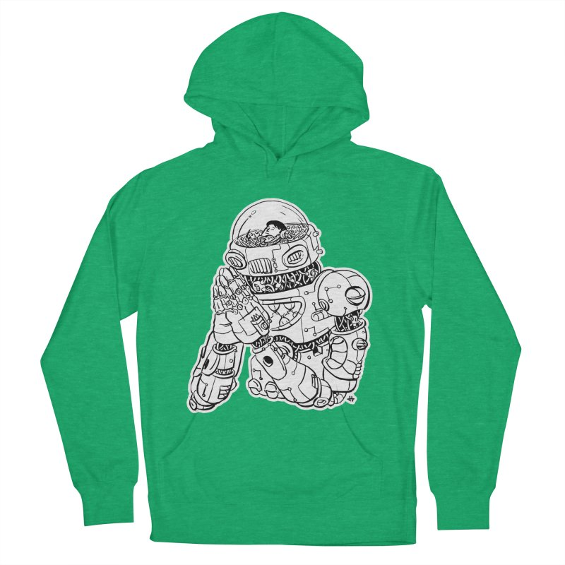 Spaceman Prey Women's French Terry Pullover Hoody by DEADBEAT HERO Artist Shop