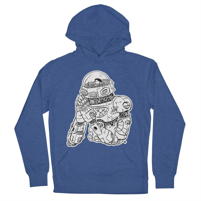 Spaceman Prey Men's Pullover Hoody by DEADBEAT HERO Artist Shop