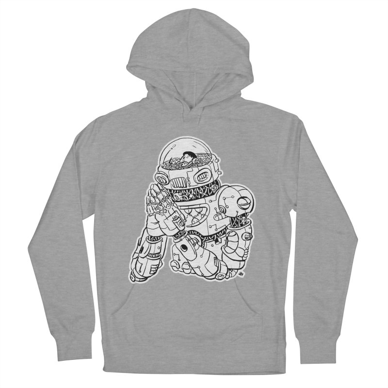 Spaceman Prey Men's French Terry Pullover Hoody by DEADBEAT HERO Artist Shop