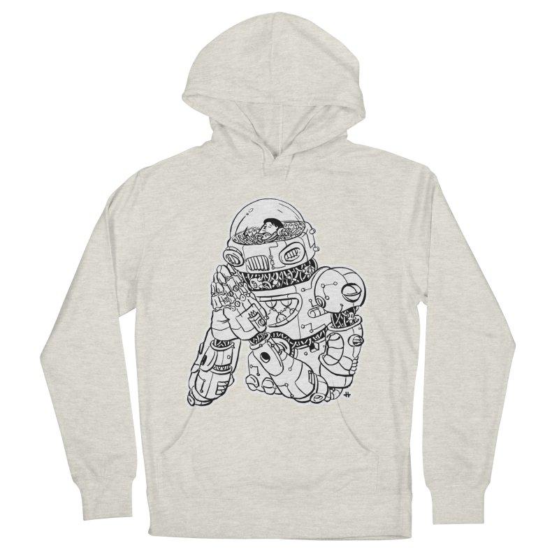 Spaceman Prey Men's French Terry Pullover Hoody by DEADBEAT HERO Artist Shop
