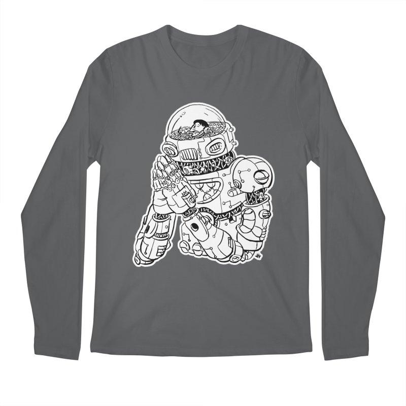 Spaceman Prey Men's Regular Longsleeve T-Shirt by DEADBEAT HERO Artist Shop