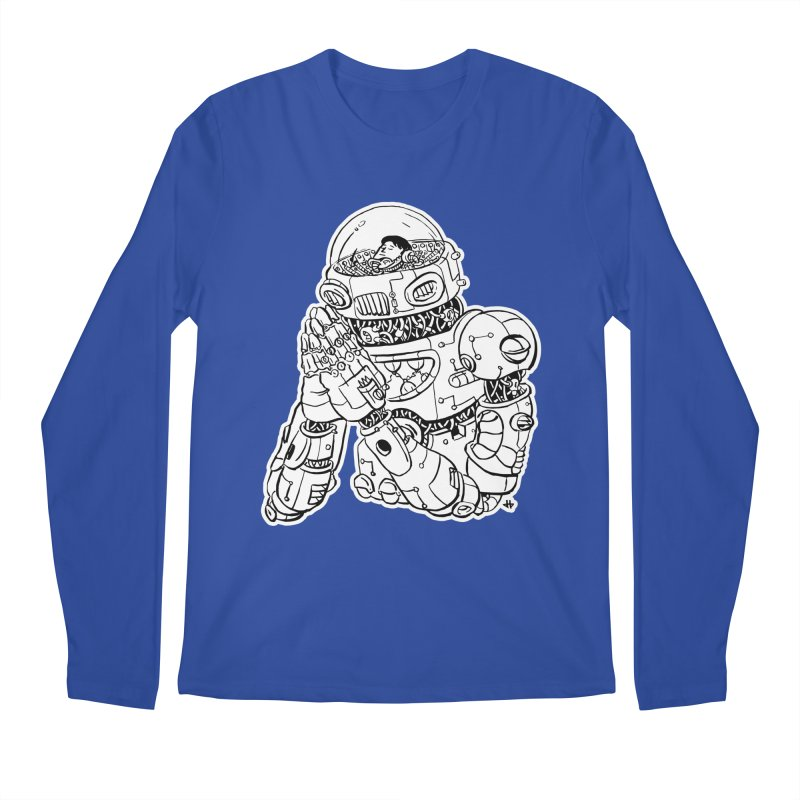 Spaceman Prey Men's Regular Longsleeve T-Shirt by DEADBEAT HERO Artist Shop