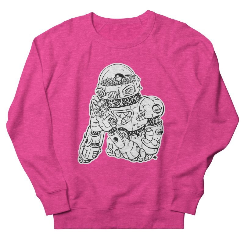 Spaceman Prey Men's French Terry Sweatshirt by DEADBEAT HERO Artist Shop
