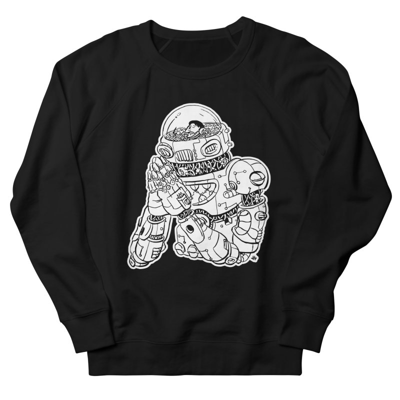 Spaceman Prey Men's French Terry Sweatshirt by DEADBEAT HERO Artist Shop