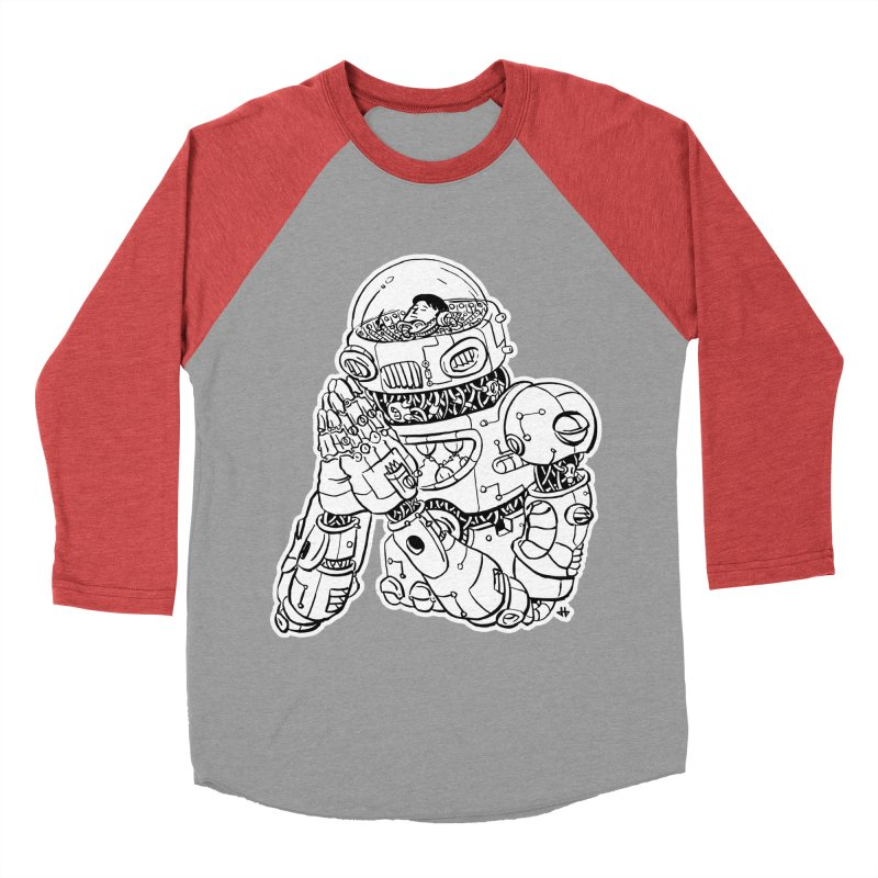 Spaceman Prey Men's Baseball Triblend Longsleeve T-Shirt by DEADBEAT HERO Artist Shop