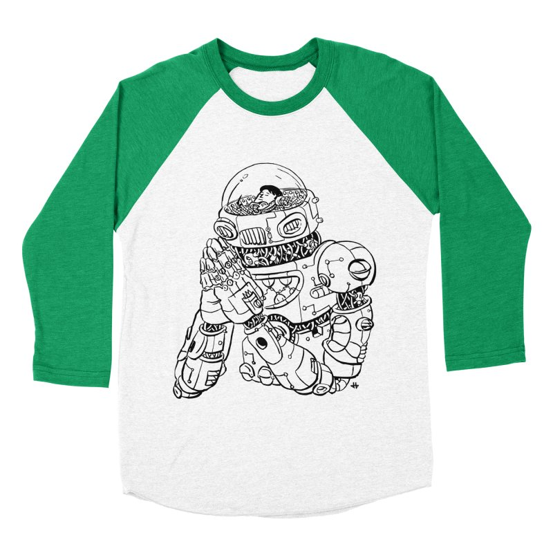 Spaceman Prey Men's Baseball Triblend Longsleeve T-Shirt by DEADBEAT HERO Artist Shop