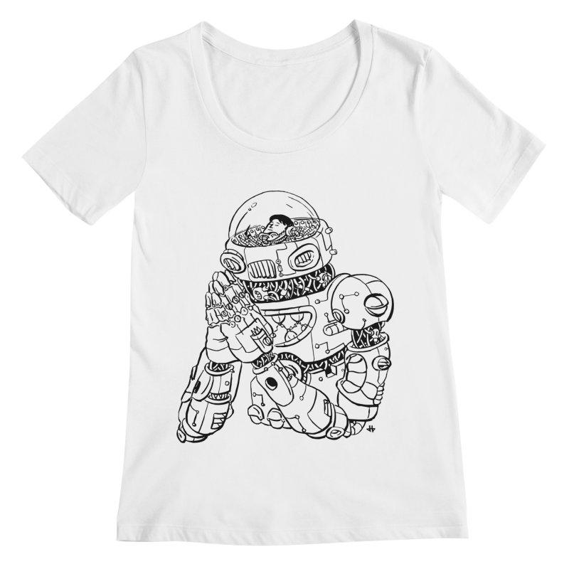Spaceman Prey Women's Regular Scoop Neck by DEADBEAT HERO Artist Shop