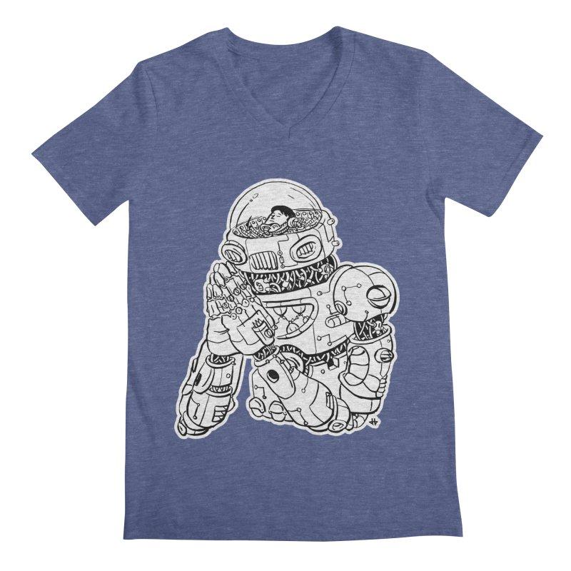 Spaceman Prey Men's Regular V-Neck by DEADBEAT HERO Artist Shop
