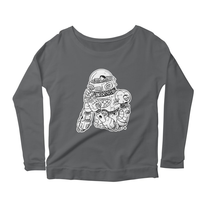 Spaceman Prey Women's Scoop Neck Longsleeve T-Shirt by DEADBEAT HERO Artist Shop