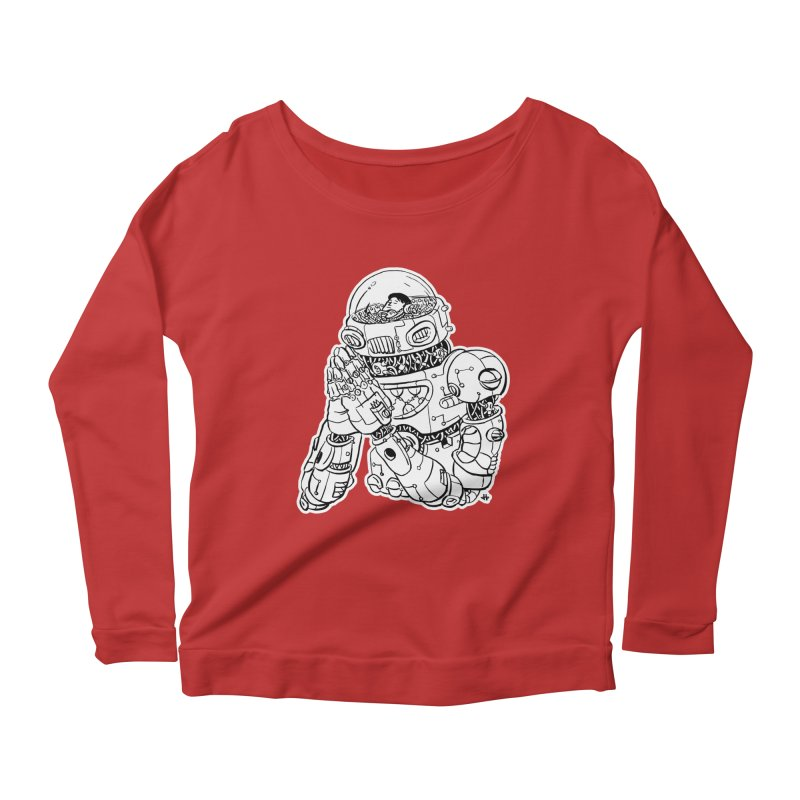Spaceman Prey Women's Scoop Neck Longsleeve T-Shirt by DEADBEAT HERO Artist Shop