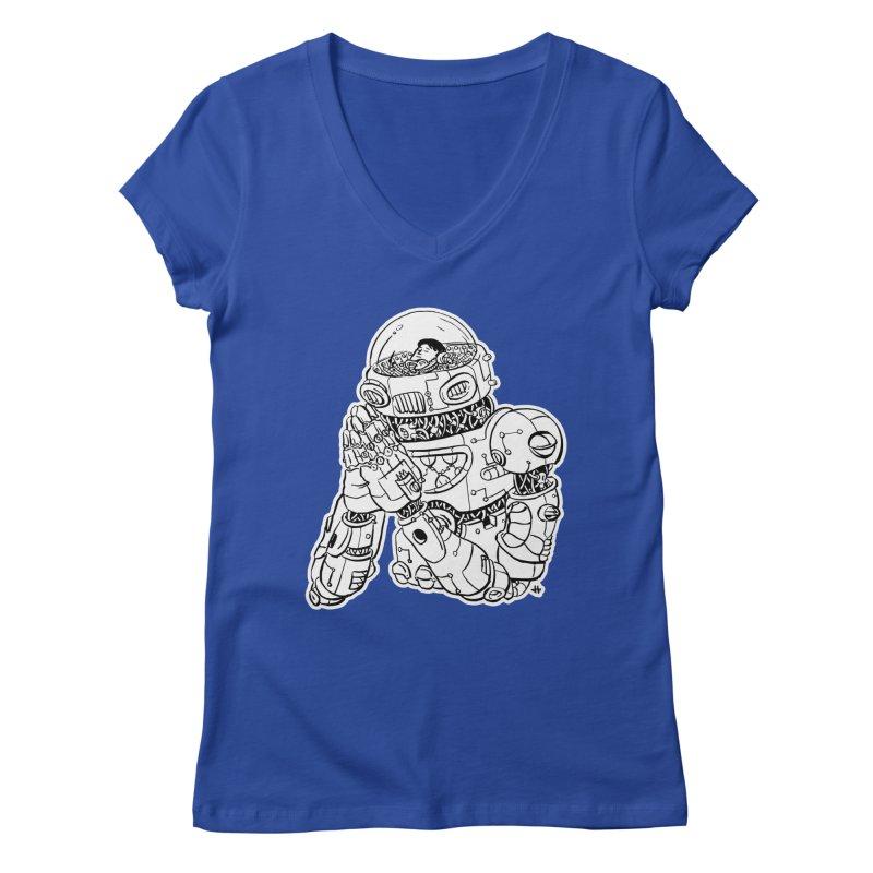 Spaceman Prey Women's Regular V-Neck by DEADBEAT HERO Artist Shop