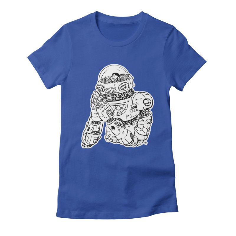 Spaceman Prey Women's Fitted T-Shirt by DEADBEAT HERO Artist Shop