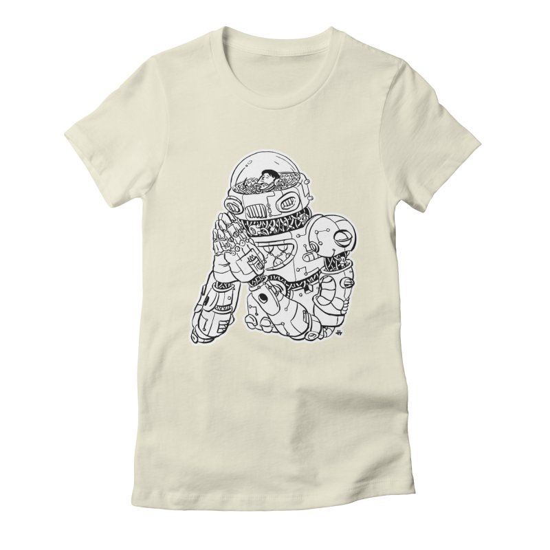 Spaceman Prey Women's Fitted T-Shirt by DEADBEAT HERO Artist Shop