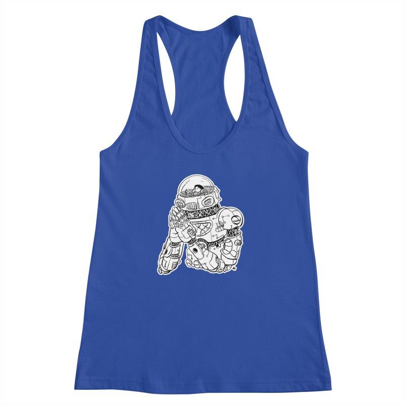 Spaceman Prey Women's Racerback Tank by DEADBEAT HERO Artist Shop