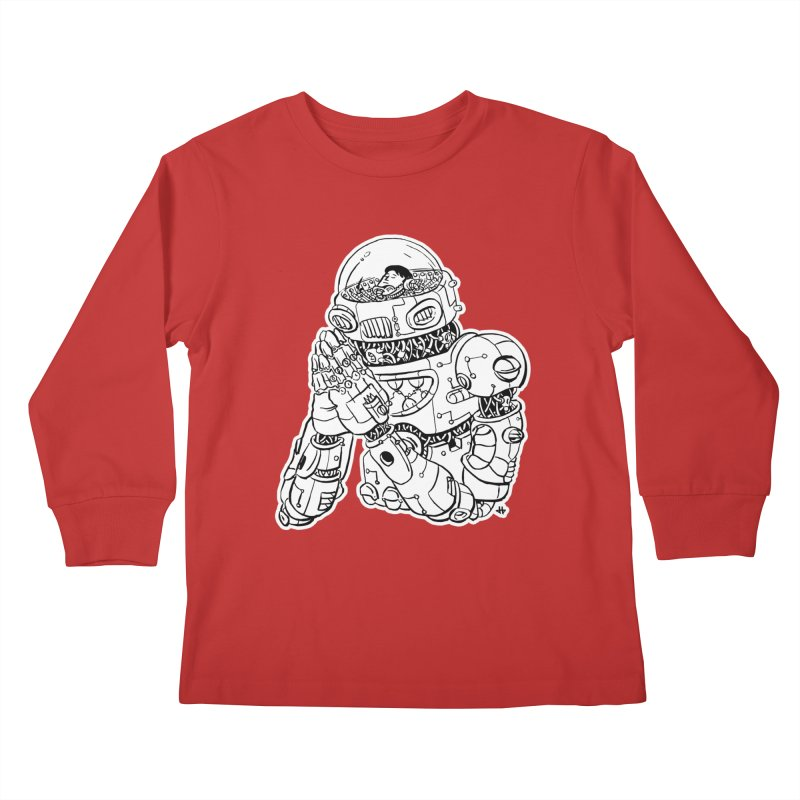 Spaceman Prey Kids Longsleeve T-Shirt by DEADBEAT HERO Artist Shop