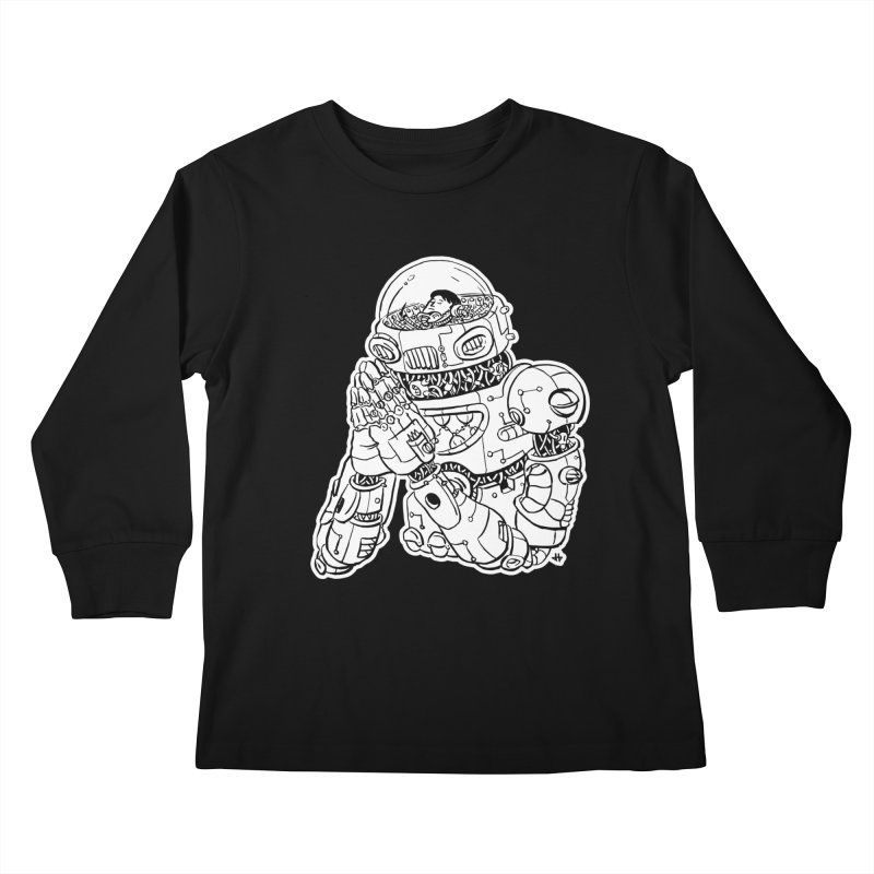 Spaceman Prey Kids Longsleeve T-Shirt by DEADBEAT HERO Artist Shop