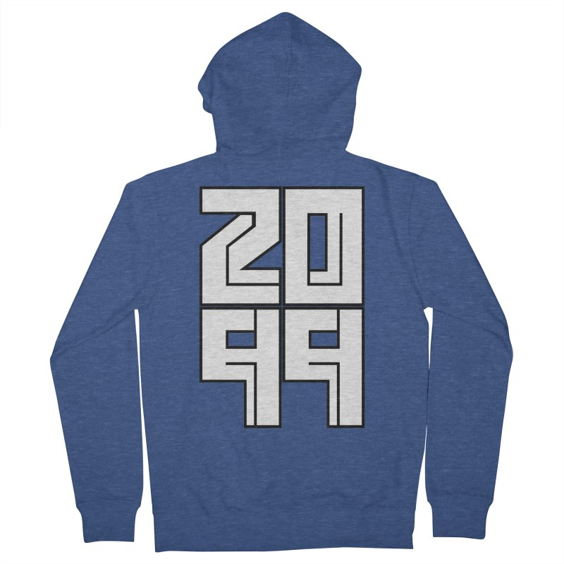 2099 KRUH Men's French Terry Zip-Up Hoody by DEADBEAT HERO Artist Shop