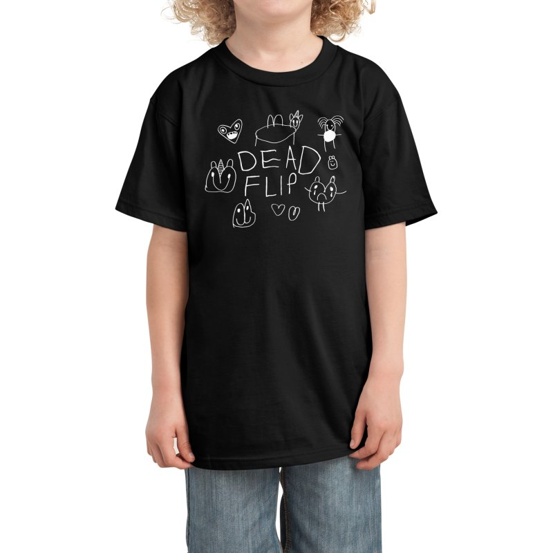 Dead Flip Charlie Design - Black Kids T-Shirt by DeadFlip Official Merch