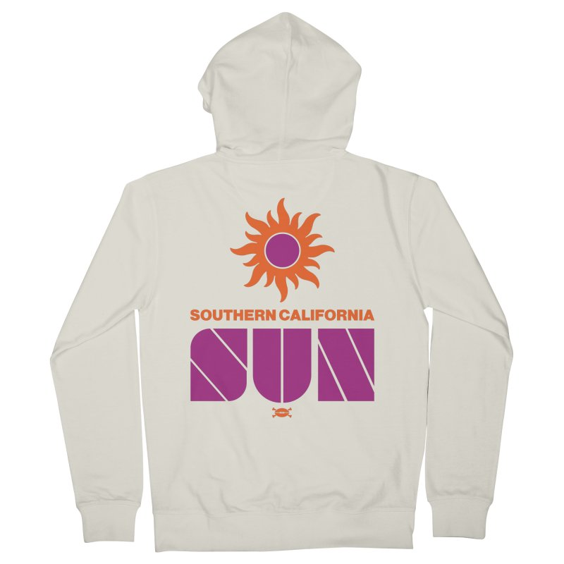 So Cal Super SUN Men's Zip-Up Hoody by deadfootball's Artist Shop