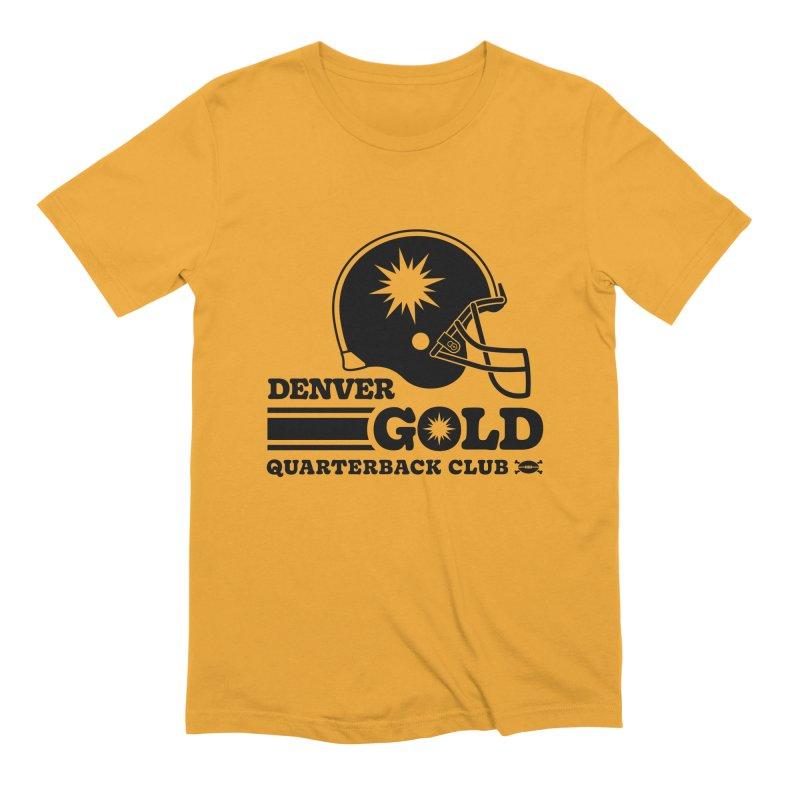 Denver Gold QB Club Men's T-Shirt by deadfootball's Artist Shop