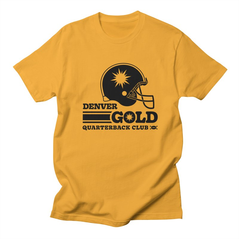 Denver Gold QB Club Men's T-Shirt by deadfootball's Artist Shop