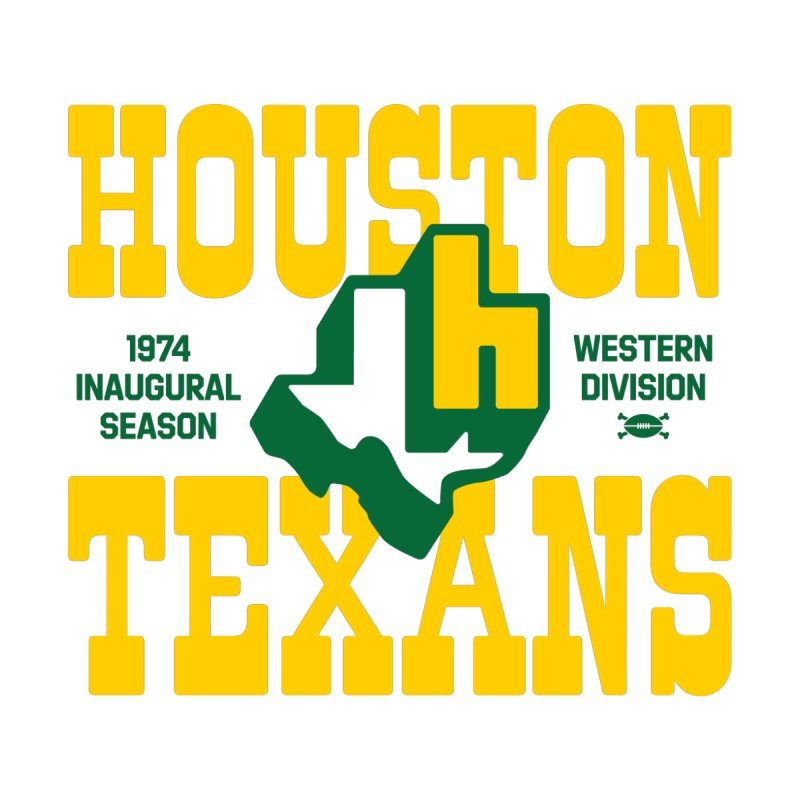 Houston Texans Men's T-Shirt by deadfootball's Artist Shop