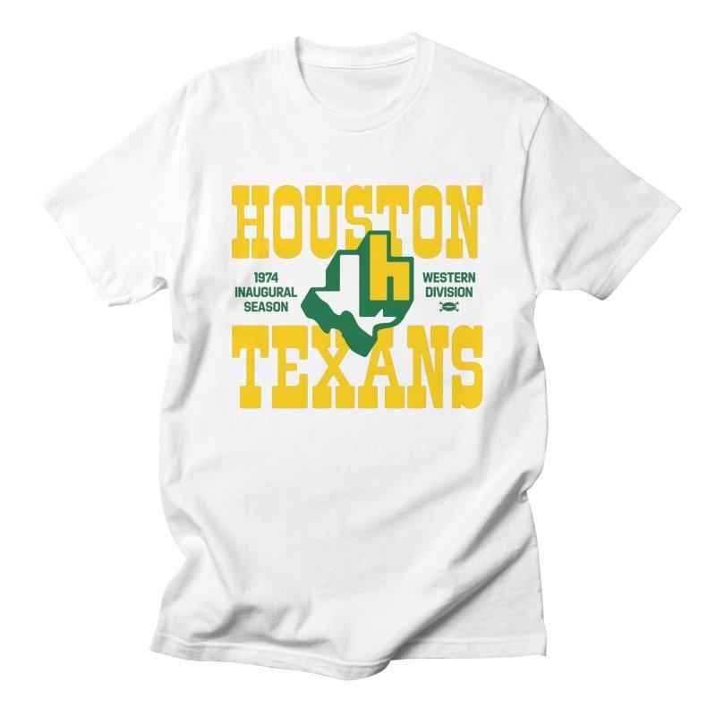Houston Texans Men's T-Shirt by deadfootball's Artist Shop