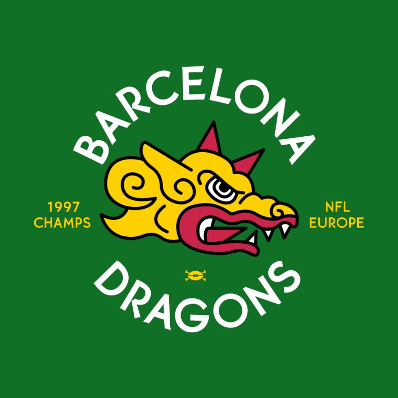 Barcelona Dragons Men's Pullover Hoody by deadfootball's Artist Shop