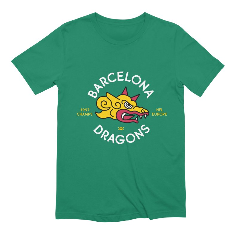 Barcelona Dragons Men's T-Shirt by deadfootball's Artist Shop