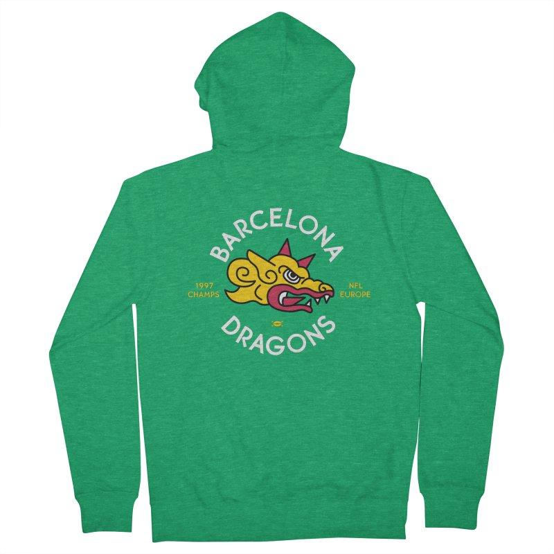 Barcelona Dragons Men's Zip-Up Hoody by deadfootball's Artist Shop