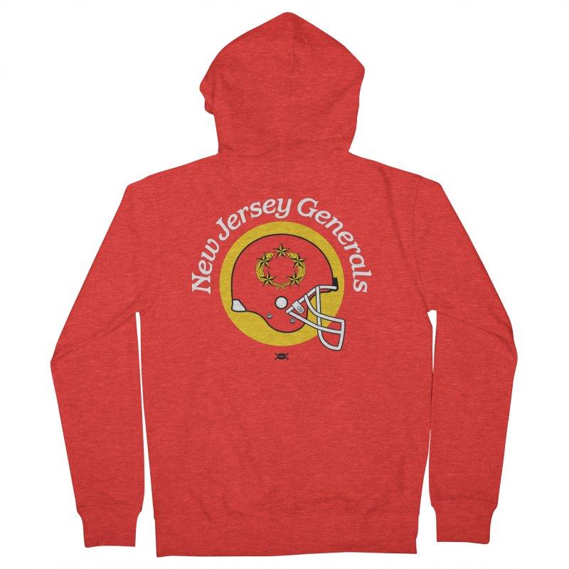 New Jersey Generals Helmet shirt Men's Zip-Up Hoody by deadfootball's Artist Shop
