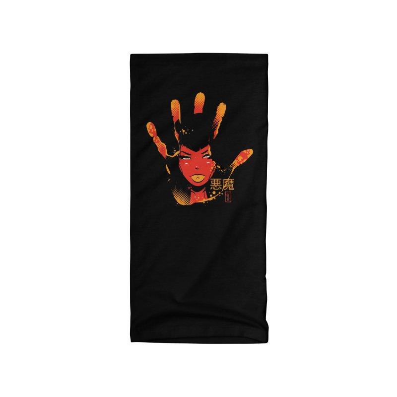 Demon Devil Girl Hand Accessories Neck Gaiter by Dead Pop Hell Shop