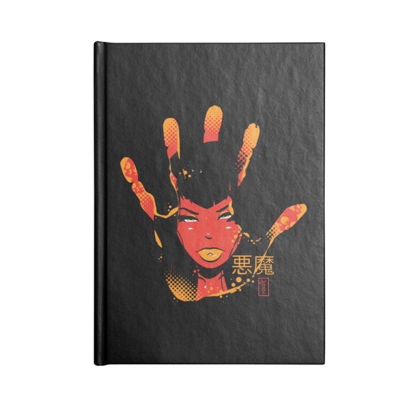 Demon Devil Girl Hand Accessories Notebook by Dead Pop Hell Shop