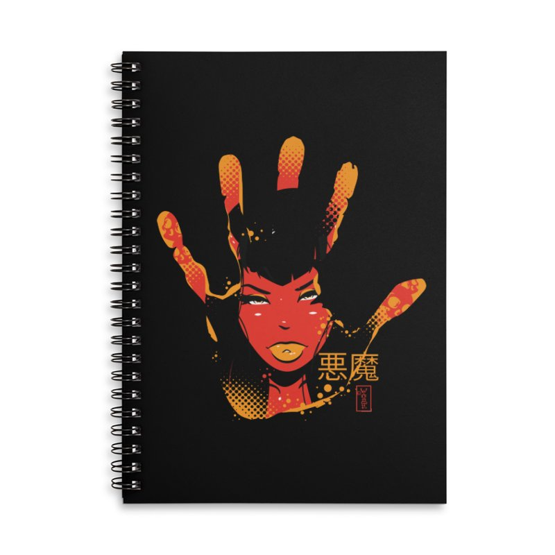 Demon Devil Girl Hand Accessories Notebook by Dead Pop Hell Shop