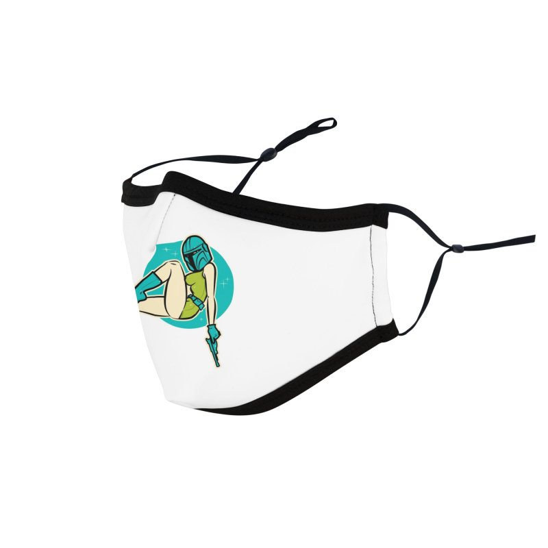 Mando Pinup This is the Way version 01 Accessories Face Mask by Dead Pop Hell Shop