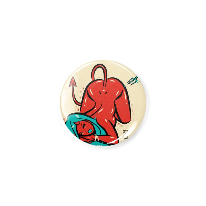 Bottom's Up Devil Girl Accessories Button by Dead Pop Hell Shop