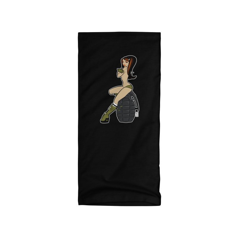 Looks that Kill Grenade Pinup Accessories Neck Gaiter by Dead Pop Hell Shop