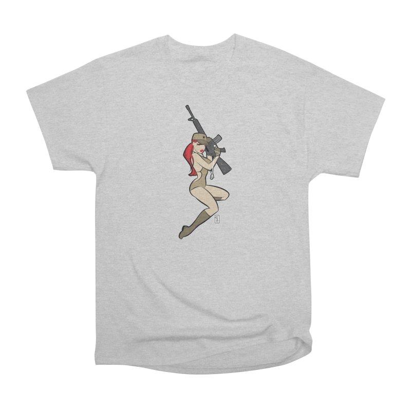 AK-A Dead Sexy Military Pinup Men's T-Shirt by Dead Pop Hell Shop