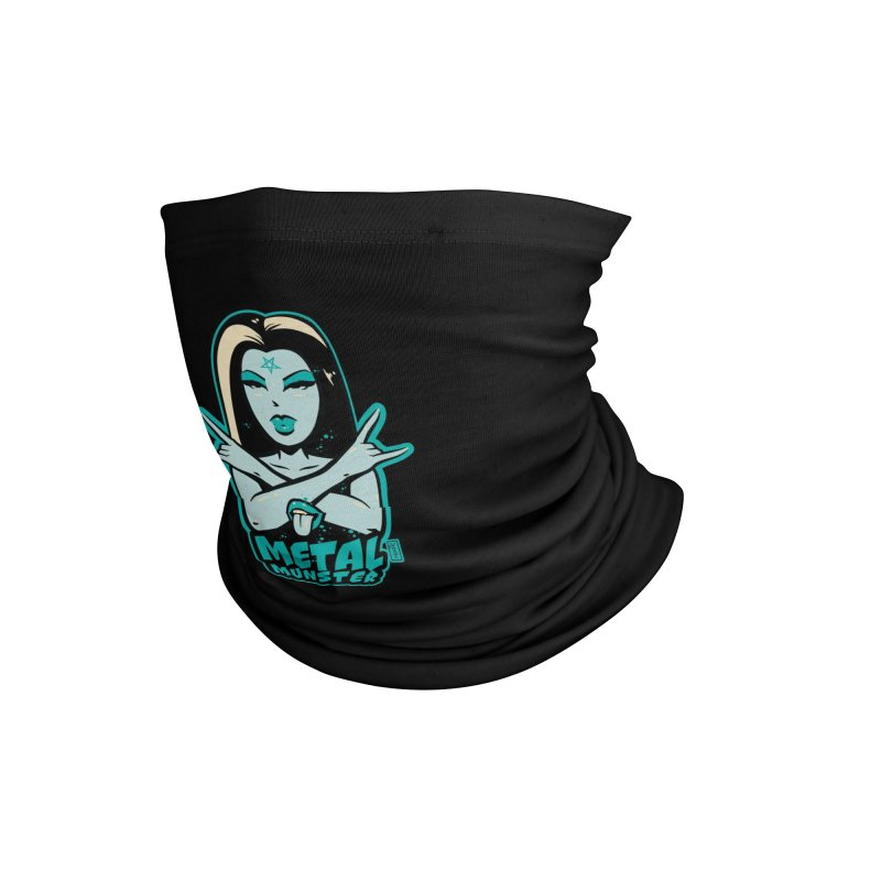 Metal Munster throwing up the horns! Accessories Neck Gaiter by Dead Pop Hell Shop