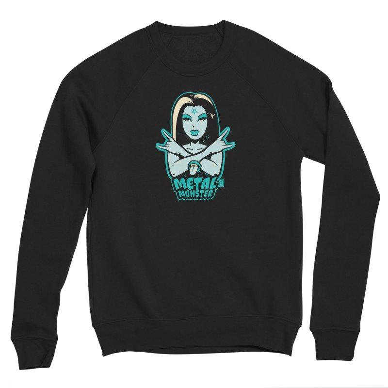 Metal Munster throwing up the horns! Men's Sweatshirt by Dead Pop Hell Shop