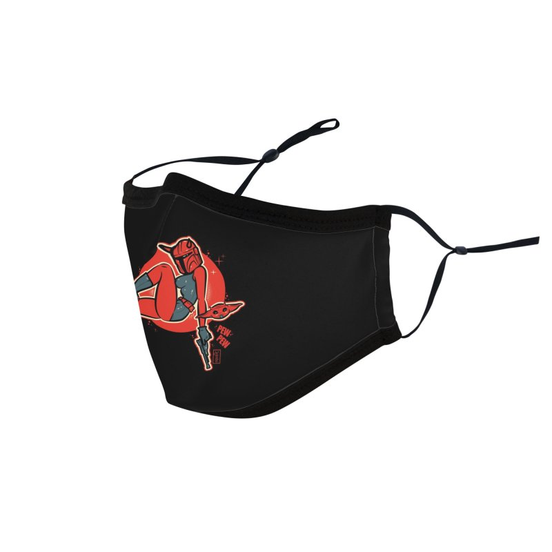 Mando Pinup Devil Girl This is the Way Accessories Face Mask by Dead Pop Hell Shop